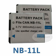 Two NB-11L NB11L BATTERY PACK FOR CANON IXUS 135 / IXUS 140 / IXUS 265 HS