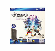 PlayStation 3 Slim Epic Mickey 2 Power of Two Bundle 250 GB Console Game Camera+