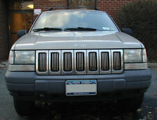 JEEP GRAND CHEROKEE CHROME GRILL TRIM KIT 96 97 98