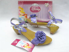 #TheBestSeller 50% OFF+FREE BAG! DISNEY PRINCESS PURPLE SANDALS SHOES 35/8-10YO