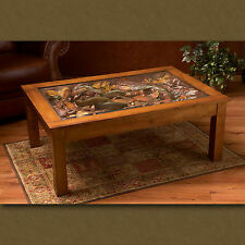 Big Sky Carvers William Herrick Trout Stream Coffee Table *NEW Fish Table