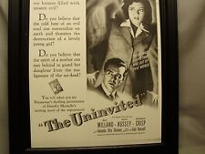 The Uninvited Ray Milland   in  Coming Attraction Movie  Window Card