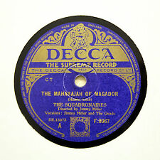 "THE SQUADRONAIRES ""The Maharajah Of Magador"" (E+) DECCA F-9067 [78 RPM]"
