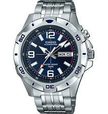 Casio Men's Silvertone Watch, Date, 100 Meter, Super Illuminator,  MTD1082D-2AV
