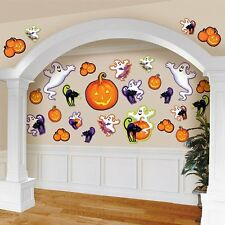 Pack of 30 Halloween Cutouts - Ghosts, Pumpkins & Cats - Halloween Decorations