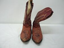 Brown Mens Rebelde Brand Boots Size 9, Alligator Sskin