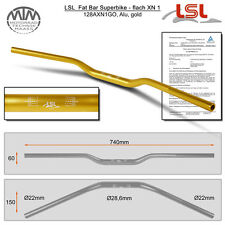 LSL Fat Bar - Superbike, flach Lenker Alu gold XN1
