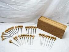 36 Grobet Swiss Vallorbe Jeweler's Gravers Engraving Chisels Tools w/Holder
