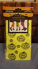 50%off sale Halloween Childs Neon Pumpkin Tights Green Kids/Parties/Dress-up.