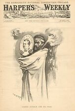 Political Cartoon, Leader Altgeld, by W.A. Rogers, Vintage 1896 Antique Print
