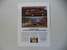 advertising Pubblicità 1981 JEEP CHEROKEE CHIEF