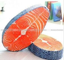 Sushi Plush Pillow Cushion Doll Toy Gift Japan Food Salmon Home Office Decor