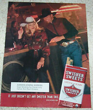 2001 ad page - sexy girl cowgirl cowboy bar Swisher Sweets cigars Tobacco Advert