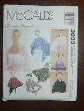 McCall's Pattern 3033 Misses Evening Cover-Ups in Four Sizes wraps shrugs shawls