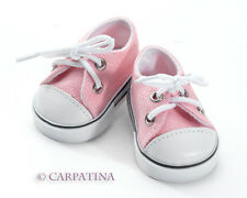 """Pink Sneakers 18"""" Doll Shoes fits American Girl or Our Generation, NEW"""