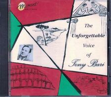 The Unforgettable Voice of Tony Bari by Tony Bari Music CD 1998