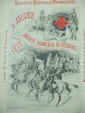 programme société hippique francaise de secours  concours equestre de paris 1888