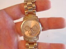 SOLID COPPER COLOR OR ROSE GOLD LOOKING WATCH - MERONA - WORKS GREAT -  FJ
