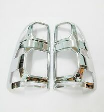 CHROME COVER REAR TAIL LIGHT LAMP PAIR FOR TOYOTA HILUX VIGO CHAMP MK7 2012-2014