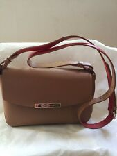 Authentic Longchamp Le Foul City Cross-body Camel Leather Bag