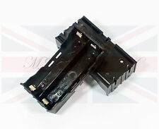 NEW DIY PLASTIC BATTERY STORAGE 4 PIN CASE BOX HOLDER for 2 x 18650 BATTERY UK
