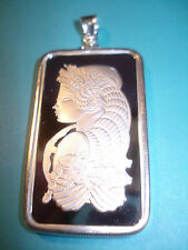1 oz. Silver Pamp Suisse Bar Necklace Pendant Bezel