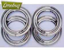 "15"" Beauty Trim Rings Stainless Steel Set 5 x 205 PCD Wheel VW Bug Beetle T2"