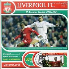 Liverpool 2003-04 Bolton (Sinama-Pongolle) Football Stamp Victory Card #310