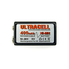 1 x 9V Volt 400mAh NiMH Rechargeable Battery PP3 Ultracell