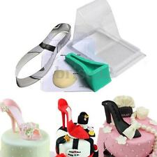 3D High Heel Shoe Kit Silicone Fondant Mould Sugar Cake Decorating Template Mold