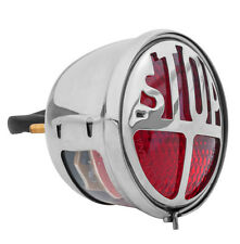 STOP Hot Rod/Bobber/Chopper/Cafe Racer LED Tail Light/Chop/Miller/Vincent Chrome