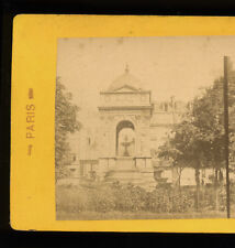 c1880 Stereoview the Fountaine des Innocents, Paris, France