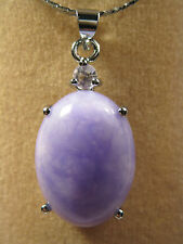 purple jade oval shape pendant (without chain)
