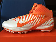 Men Nike Air Zoom Alpha Talon NFL Football Cleats White/Orange Sz 15 443308-181