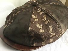 Carlos Santana Ladies One Size NEWSBOY PAPERBOY 8 Panel Cap Os BROWN GOLD