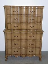 Vtg Union National Tall Dresser Scalloped Front Facade French Provincial 100602