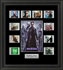 THE MATRIX FRAMED FILM CELL MEMORABILIA KEANU REEVES