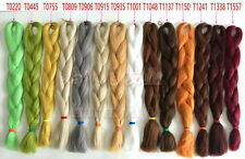 "24"" Kanekalon Jumbo Braiding Synthetic Hair Extension Twist Braids 80g Ang Color"