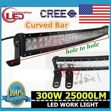 Curved 300W 52 inch Combo Work LED Light Bar Driving Offroad SUV Car 4WD Boat