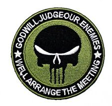 NAVY SF SEAL PUNISHER Morale SWAT VELCRO MILSPEC Tactical Military IRON ON PATCH