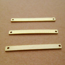 20pcs High-quality Raw Solid Brass Bars Connectors for Stamping Personalized