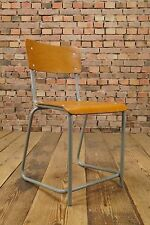 50er FACTORY INDUSTRIE DESIGN STUHL HOCKER WERKSTATT CHAIR 50s LOFT ROWAC ÄRA 3