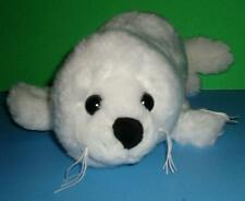 Adorable Cuddly Cute White Unipak Harp Seal Pup Plush Stuffed Animal Toy 18""