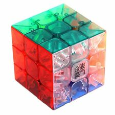 YJ Yulong 3x3x3 Transparent Color Stickerless Magic Cube Speed Puzzle Teaser Toy