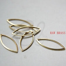 20pcs Raw Brass Charm Oval - 33x13.5mm (3120C-F-609)
