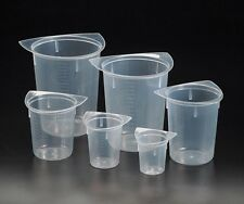 Lot 6 Plastic Beakers Beaker Various Sizes Free Shipping