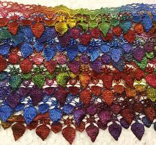 """Venise lace hand dyed 2.25"""" wide rayon sold by yard old english quilting trim"""