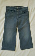 7 For All Mankind Jeans Juniors size 25 / 0 Crop Dojo Stretch Cotton Blend Blue