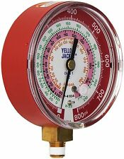 "Yellow Jacket 49137 3-1/8"", Red Pressure, 0-800 Psi, R-22/404A/410A Gauge (°F)"