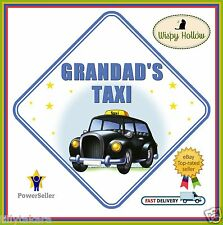 GRANDAD'S TAXI CAR WINDOW SIGN SAFETY NON PERSONALISED like BABY ON BOARD